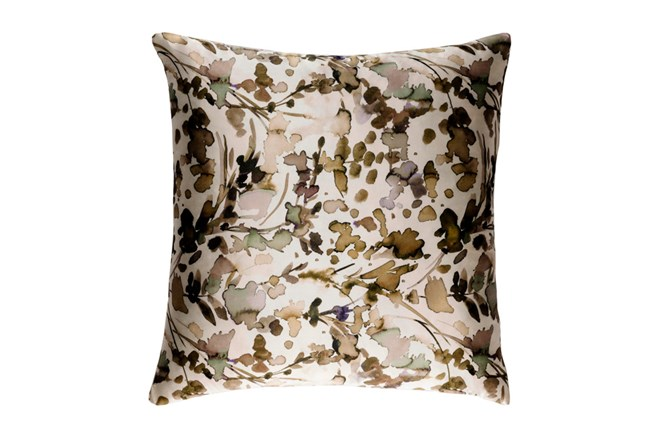 Accent Pillow-Watercolor Leaves Tan 22X22 - 360