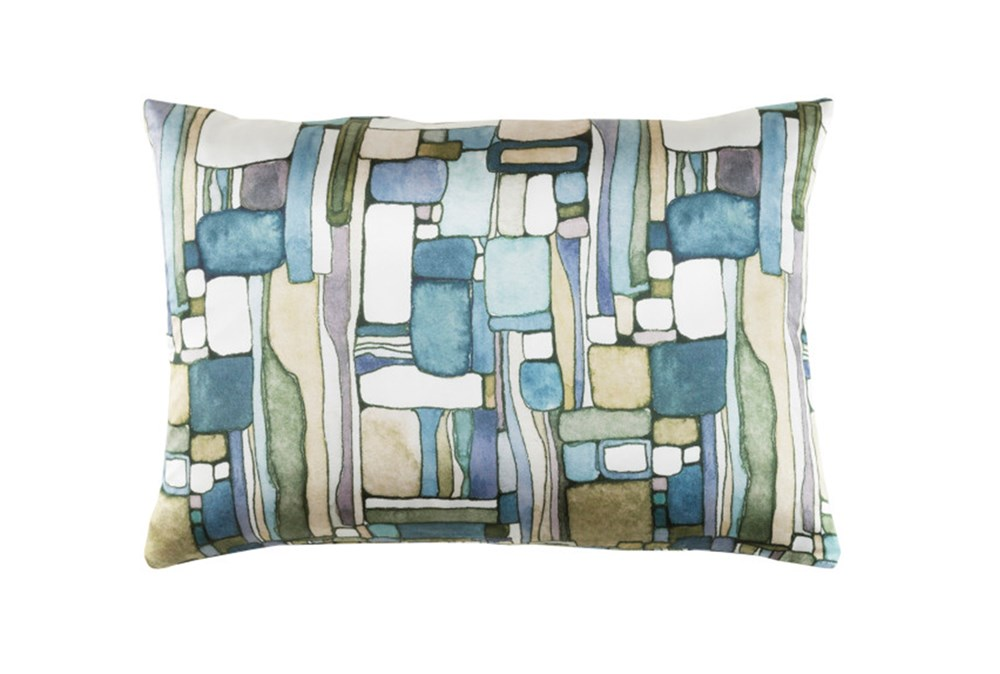 Accent Pillow-Watercolor Mosaic Green 19X13