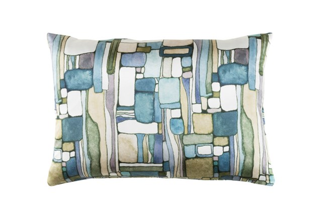 Accent Pillow-Watercolor Mosaic Green 19X13 - 360