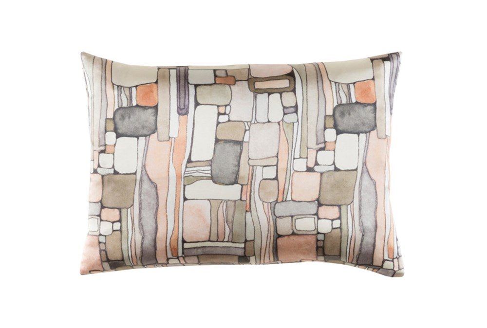 Accent Pillow-Watercolor Mosaic Peach 19X13