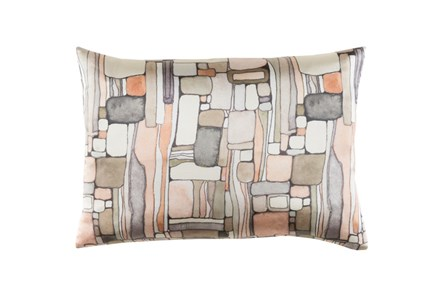 Accent Pillow-Watercolor Mosaic Peach 19X13