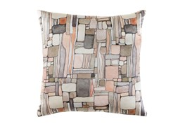 Accent Pillow-Watercolor Mosaic Peach 20X20