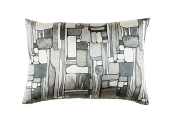 Accent Pillow-Watercolor Mosaic Grey 19X13