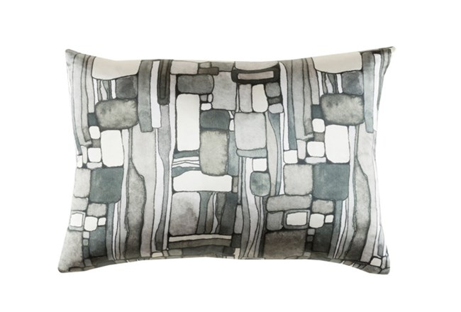 Accent Pillow-Watercolor Mosaic Grey 19X13 - 360