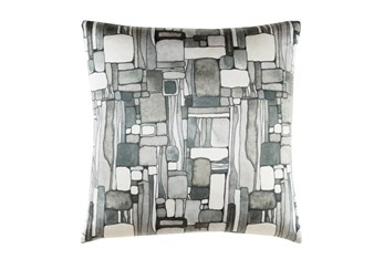 Accent Pillow-Watercolor Mosaic Grey 20X20