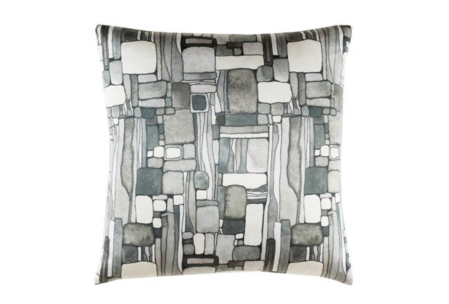 Accent Pillow-Watercolor Mosaic Grey 20X20 - 360