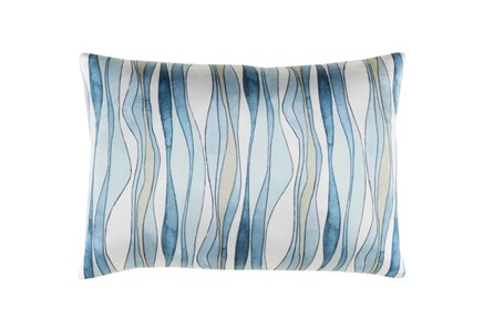 Accent Pillow-Watercolor Ribbons Blue 19X13