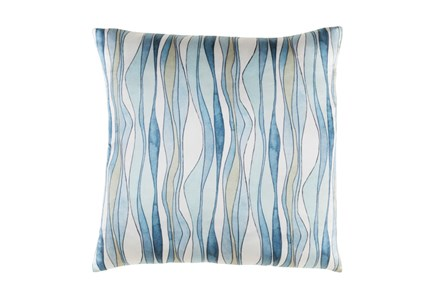 Accent Pillow-Watercolor Ribbons Blue 20X20