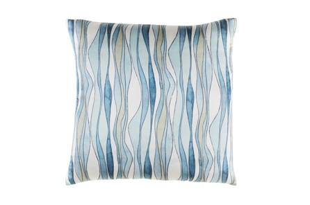 Accent Pillow-Watercolor Ribbons Blue 20X20 - Main