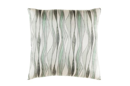 Accent Pillow-Watercolor Ribbons Mint 20X20 - Main