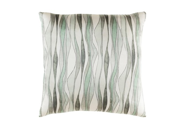 Accent Pillow-Watercolor Ribbons Mint 20X20 - 360