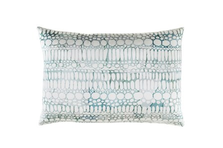 Accent Pillow-Watercolor Bubbles Aqua 19X13