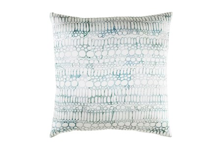 Accent Pillow-Watercolor Bubbles Aqua 20X20