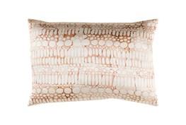 Accent Pillow-Watercolor Bubbles Orange 19X13