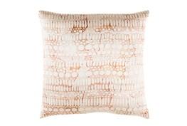 Accent Pillow-Watercolor Bubbles Orange 20X20