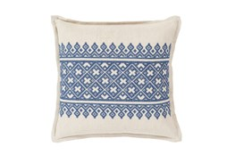 Accent Pillow-Denim Lace Band 20X20