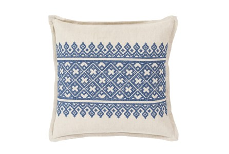 Accent Pillow-Denim Lace Band 20X20