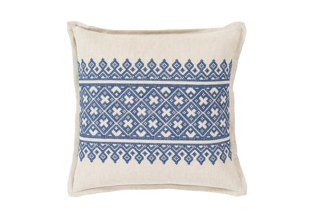 Accent Pillow-Denim Lace Band 20X20 - 360