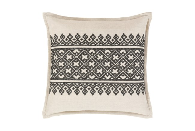 Accent Pillow-Black Lace Band 20X20 - 360