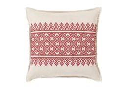 Accent Pillow-Crimson Lace Band 20X20
