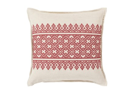 Accent Pillow-Crimson Lace Band 20X20