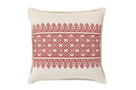 Accent Pillow-Crimson Lace Band 20X20 - Main
