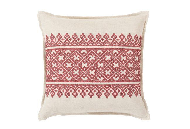 Accent Pillow-Crimson Lace Band 20X20 - 360