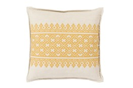 Accent Pillow-Yellow Lace Band 20X20