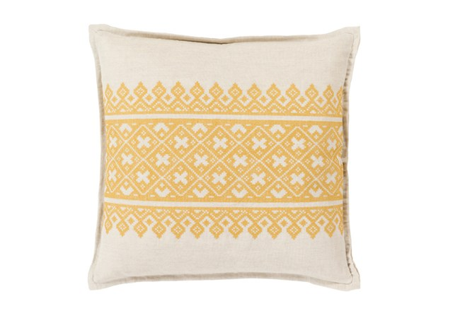 Accent Pillow-Yellow Lace Band 20X20 - 360