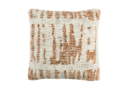 Accent Pillow-Aged Boucle Orange 20X20 - Main