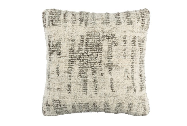 Accent Pillow-Aged Boucle Grey 20X20 - 360