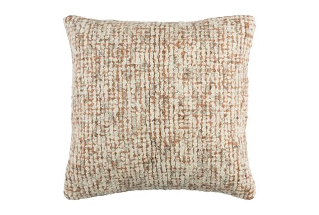 Accent Pillow Stripe Boucle Orange 20X20