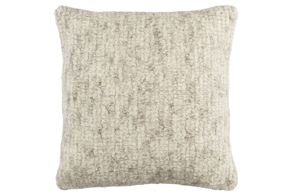 Accent Pillow-Stripe Boucle Grey 20X20