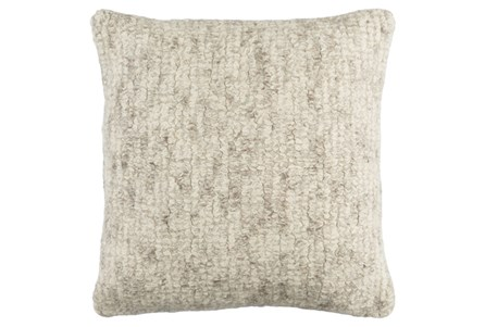 Accent Pillow-Stripe Boucle Grey 20X20
