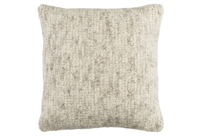 Accent Pillow-Stripe Boucle Grey 20X20 - 360