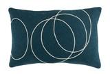 Accent Pillow-Felt Circles Dark Blue 19X13 - Signature