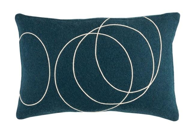 Accent Pillow-Felt Circles Dark Blue 19X13 - 360