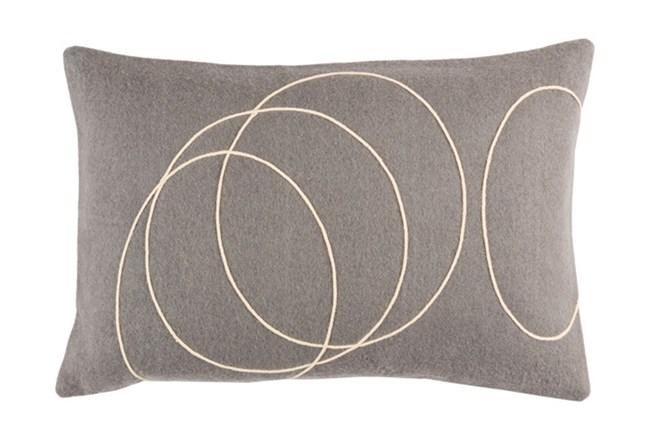 Accent Pillow-Felt Circles Grey 19X13 - 360