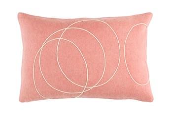 Accent Pillow-Felt Circles Mauve 19X13