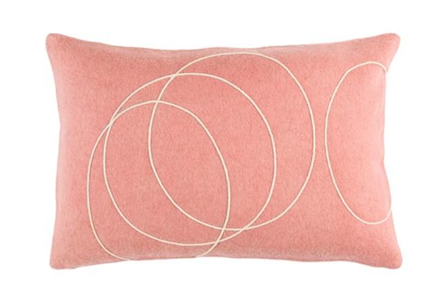 Accent Pillow-Felt Circles Mauve 19X13 - 360