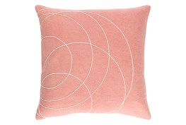 Accent Pillow-Felt Circles Mauve 18X18
