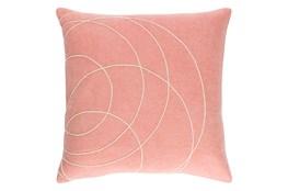 Accent Pillow-Felt Circles Mauve 18X18