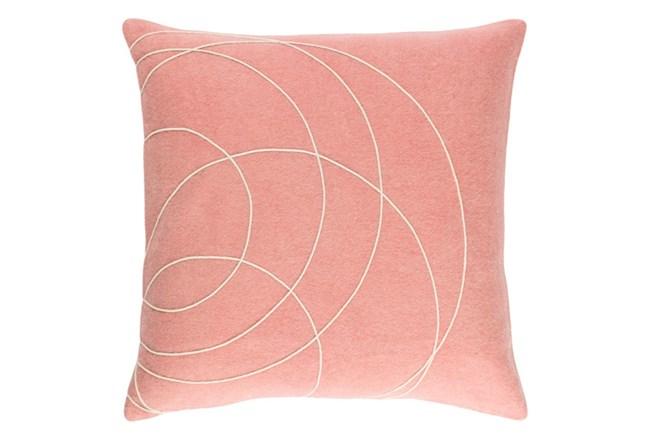 Accent Pillow-Felt Circles Mauve 18X18 - 360