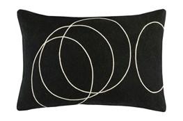Accent Pillow-Felt Circles Black 19X13