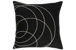 Accent Pillow-Felt Circles Black 18X18