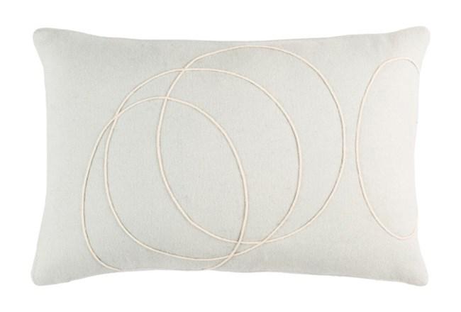 Accent Pillow-Felt Circles Silver 19X13 - 360