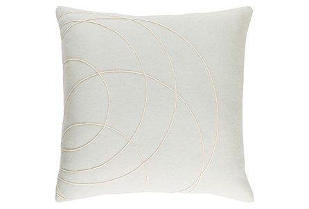 Accent Pillow-Felt Circles Silver 18X18