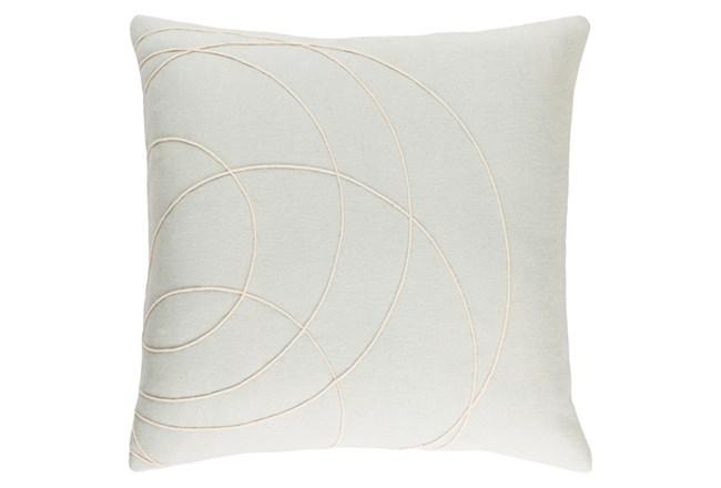 Accent Pillow-Felt Circles Silver 18X18 - 360