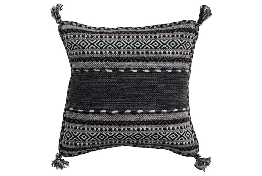Accent Pillow-Black Tassels 20X20