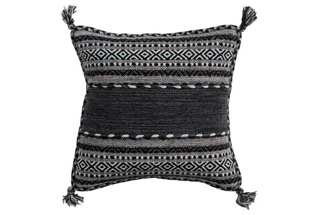Accent Pillow-Black Tassels 20X20 - 360